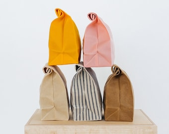 Lunch Bag // The Original Waxed Canvas Lunch Bag // Lunch Bag in Brown // Brown Bag