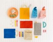 Market Bag // The Original Waxed Canvas Market Bag // Farmers Market Bag in Sunshine Yellow // Brown Bag