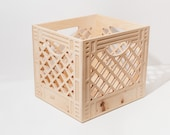 The Collector - Wooden Milk Crate