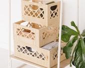 Standard Browser Wooden Milk Crate // Vintage Inspired Milk Crate // Replica Milk Crate