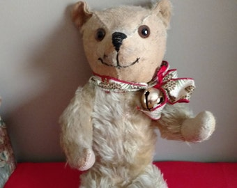 "Antique 15"" Beige Mohair Teddy Bear"