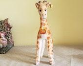 Vintage Steiff Giraffe 0750 28 w Button, Ear Flag and Chest Tag