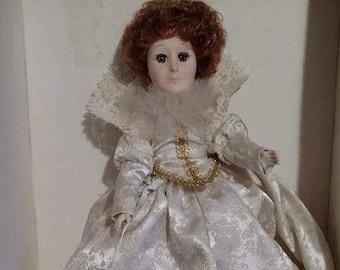 "Vintage Effanbee Woman of the Ages 13"" Doll ""Queen Elizabeth #3379, NIB"