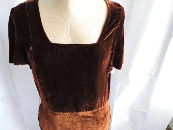 30's Silk Velvet Gown - image 3