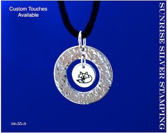 Fox Necklace, Sterling Silver, Fox Pendant , Wildlife Jewelry, Animal Jewelry, Canidae, Vulpes, Fox Jewelry, Wildlife Lover, Nature Jewelry
