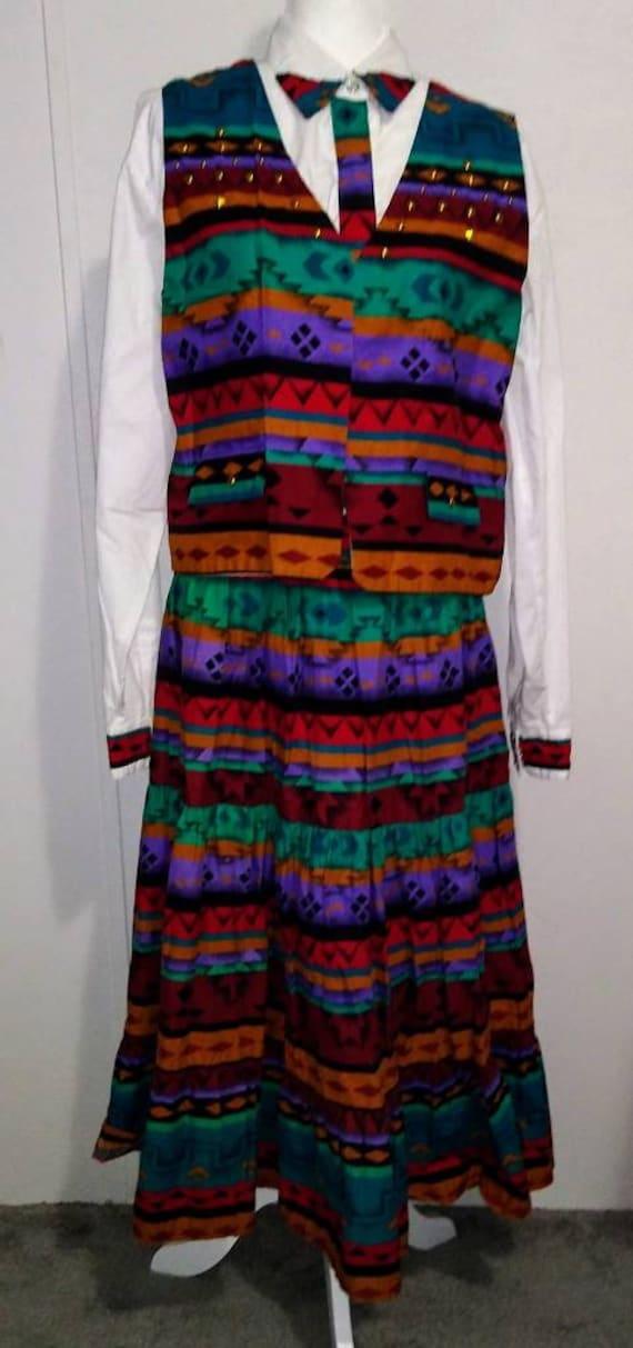 Sheplers Western Skirt Shirt Vest Outfit Women's 1