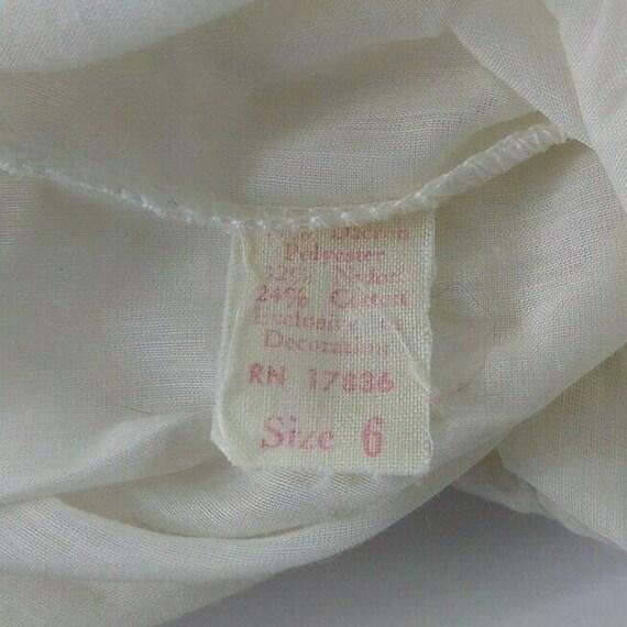 Vintage Girl Full Circle Petticoat Slip 6 Chemise… - image 7