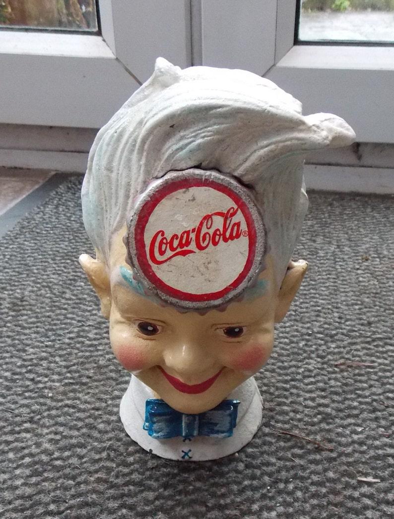 Superb Hand painted Cast Iron  Coca Cola SPRITE BOY  Money Box