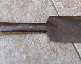 "Antique Cast Steel blade Double Edged BILLHOOK Hedge Laying tool No 3 9"" Blade Long Handle"