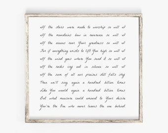 photograph relating to Free-printable Southern Gospel Song Lyrics titled Worship lyrics Etsy