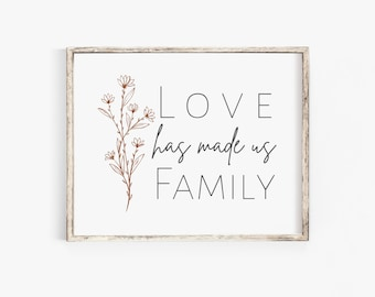 Love has Made us Family // Instant Download // Foster Care // Adoption Art