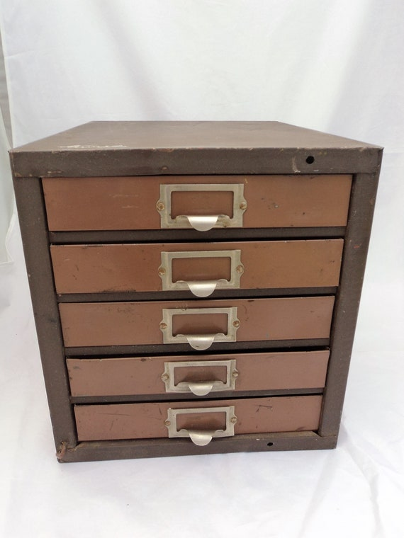 Vintage Kennedy 5 Drawer Metal Machinist Tool Chest Small ...