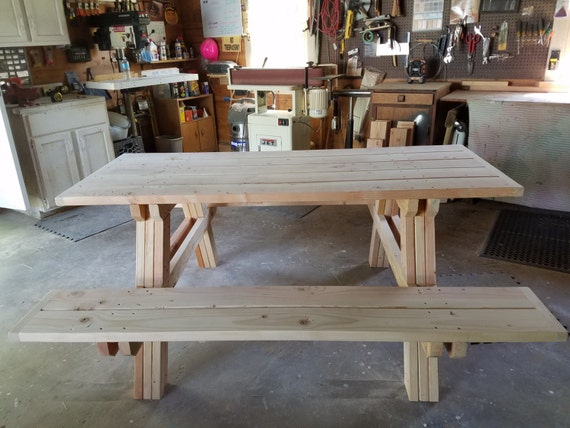 Excellent Heavy Duty Douglas Fir Picnic Bench Machost Co Dining Chair Design Ideas Machostcouk
