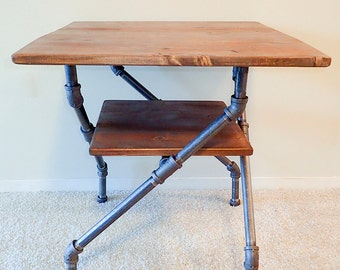 Industrial Pipe Side Table / Nightstand