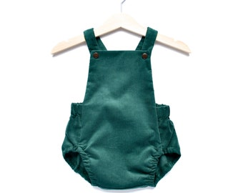 a63abf627a4f Baby Romper in Moss Velvetly Needlecord