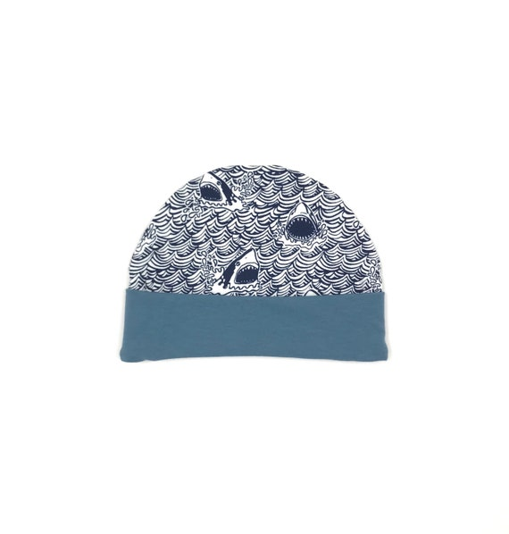 Funny Shark Forest Wool Hat Soft Boys 0-3 Old