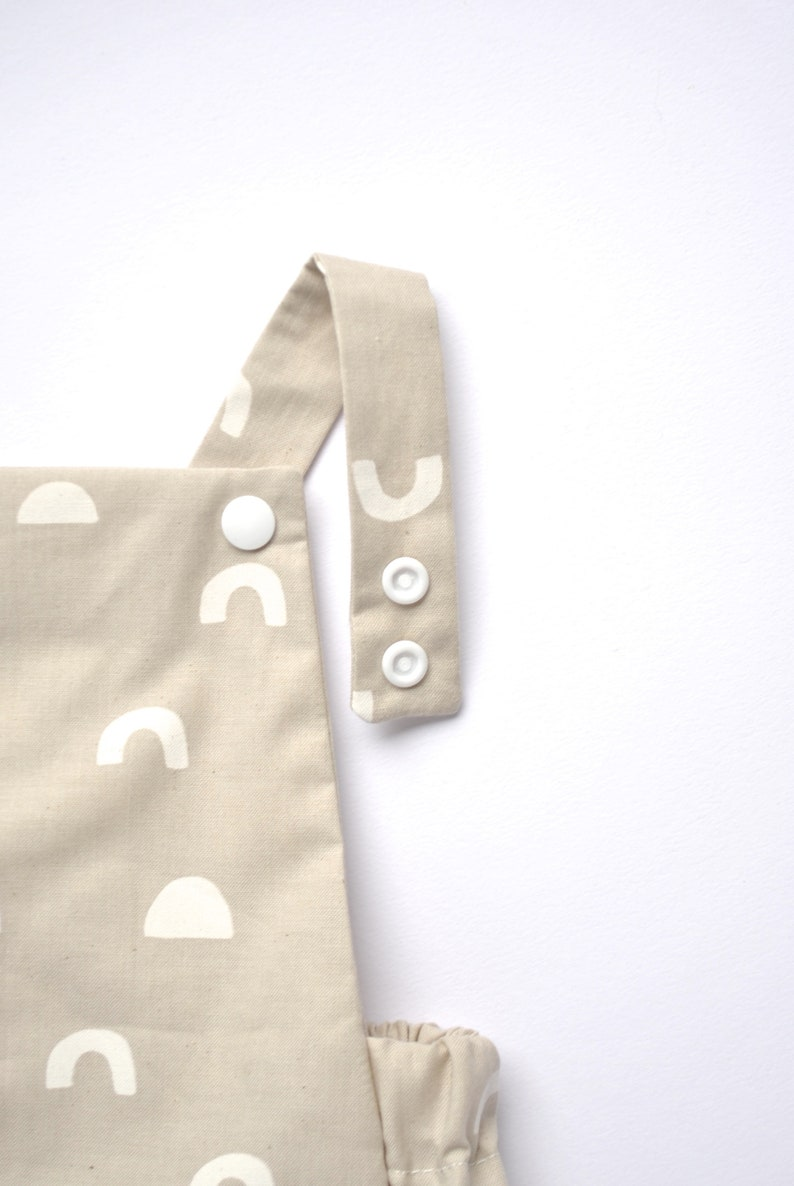 Warm Grey Romper For Baby Unisex Baby Romper Unisex Classic Romper White Printed Design on Unbleached Cotton Baby Gift