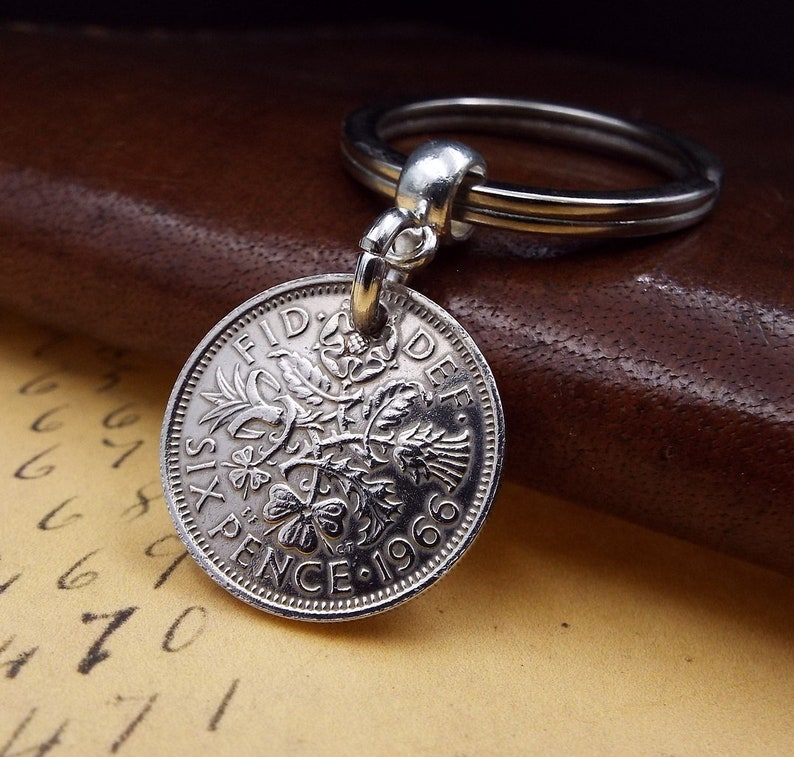 1964 sixpence coin bracelet charm ready to hang 1964 charm