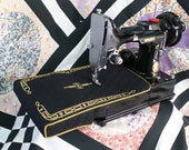 Singer Featherweight 221 or 222 sewing machine lift table sleeve Vintage Decals