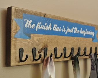 Metal Holder | Runner Gift | The Finish Line is Just the Beginning | Sports Metals | Athlete Gift | Marathon Gift