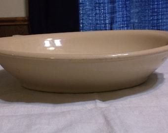 Vintage Shenango China IncaWare Tan Oval Serving Dish