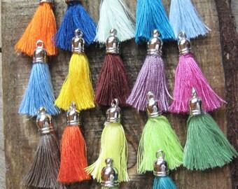 Cotton Tassels, DIY Jewelry Tassel, Boho Tassel, Bag Charm Tassel, Tassels for Jewelry, 3cm Tassel, Small Tassel - Mix and Match Colors