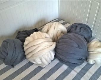 Arm Knitting Merino Wool, Chunky Yarn, Super Chunky wool, Jumbo Yarn, Extreme Knitting Yarn, Bulky Yarn, Knitting Yarn, DIY Chunky Blanket