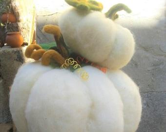 XL Felt Pumpkin 40cm | Huge White Pumpkin | Thanksgiving Felt Pumpkin Decorations | Orange Halloween Pumpkin