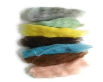 Wool Samples - Wool Roving Packs - Needle Felting Wool - Wet Felting Wool - Wool for Felting - Wool Felt Samples