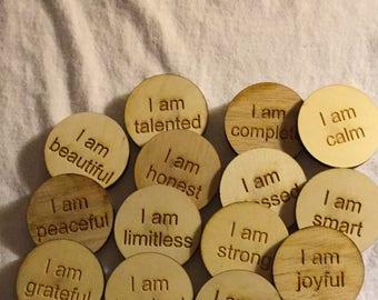 Refrigerator Magnets Inspirational I am 36 Inspirational I am Magnets - Magnets 36-count, 3 sets of 12 Inspire