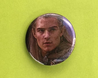Legolas / Lord of the Rings Upcycled Pinback Button