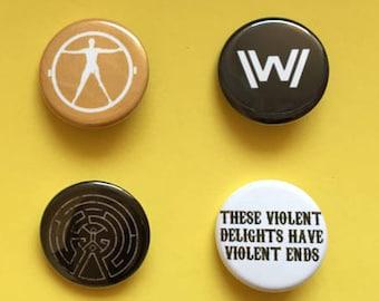 Westworld Pinback Buttons