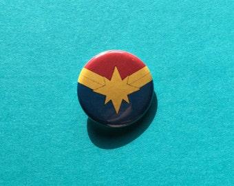 Carol Danvers / Captain Marvel Insignia Pinback Button