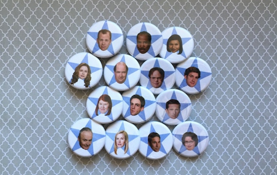 The Office Cast Pinback Buttons Or Magnets by Etsy