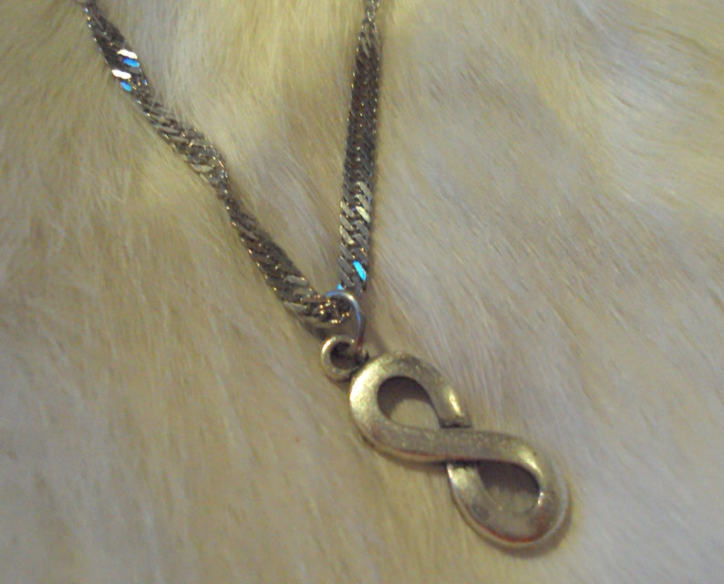 Metis Indigenous Symbol on Stainless Steel Singapore Twist Chain Necklace  Native Acadian Cajun