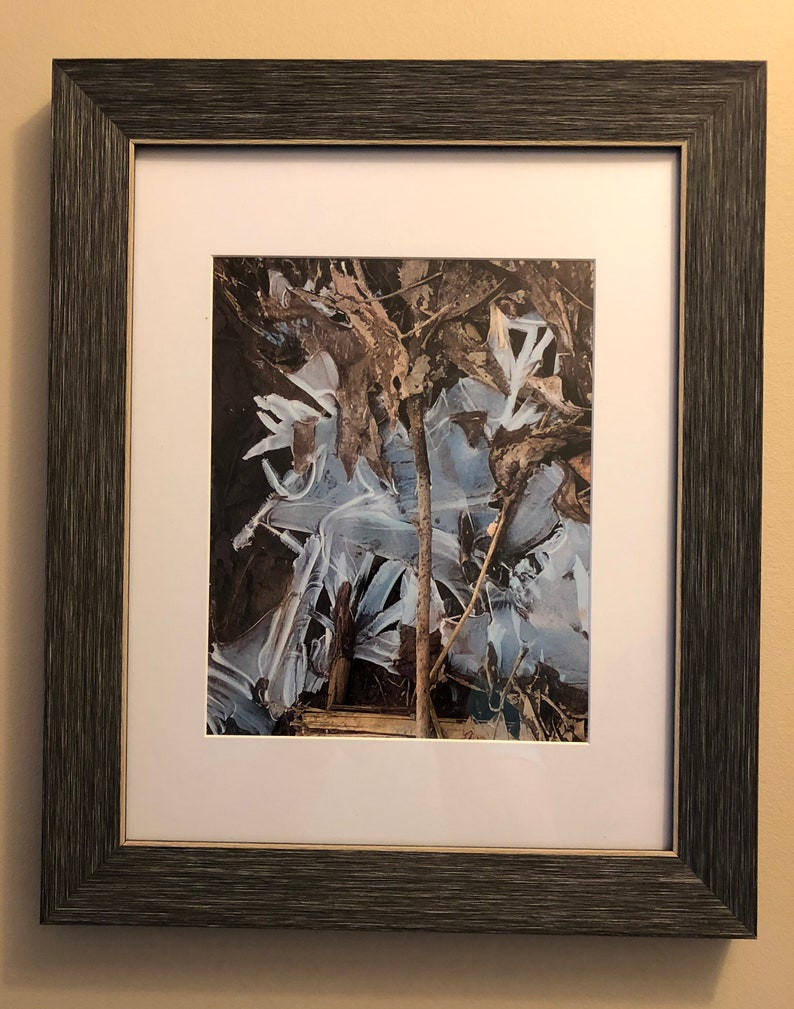 Framed Promise of Spring Photo Spring Ice by Metis Photographer Native Indigenous