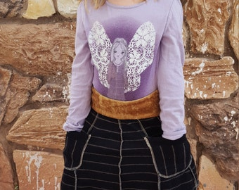 Velvet Boho Baby Ruffles PRICE REDUCED Girl/'s Holiday Wool Skirt wpockets Stripes Black and Gold