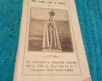 How Fatima Came to America Booklet Pamplet
