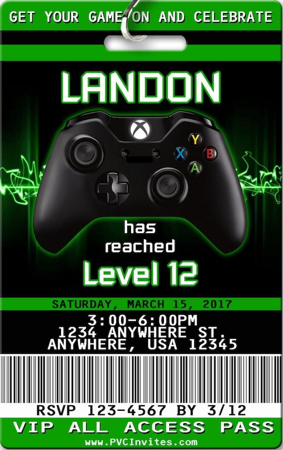 Xbox Invitation PLASTIC Birthday