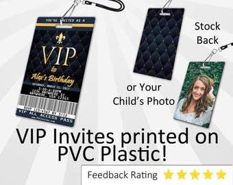 VIP Pass Birthday Invitation PLASTIC VIP Pass Birthday, Vip Pass Birthday Invitation, Birthday Invite, Vip Pass Birthday, Vip Pass