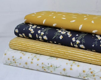 Cotton Fabric Patchwork Meterware Yellow Blue Package