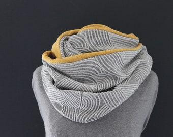 Loop Tube Scarf Loop Scarves Grey Scarf Curry Yellow