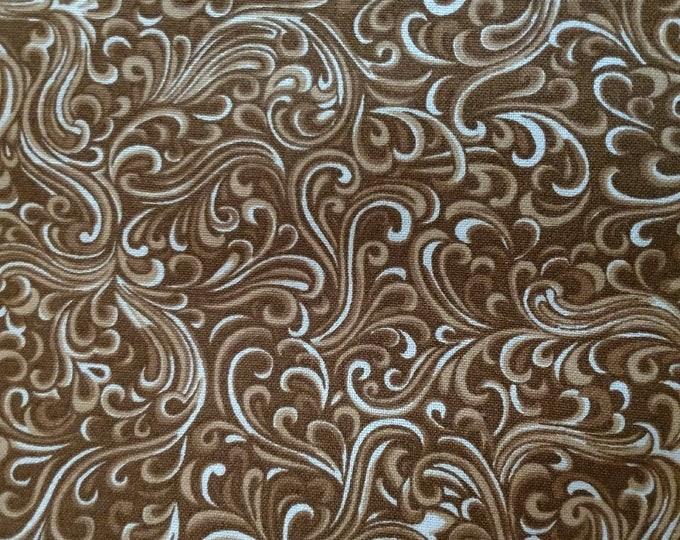 Brown Tan Cream Stock Tie