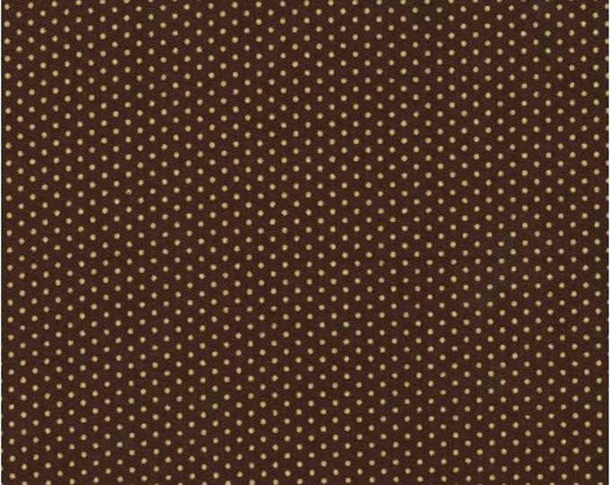 Chocolate brown with white dot Stock Tie