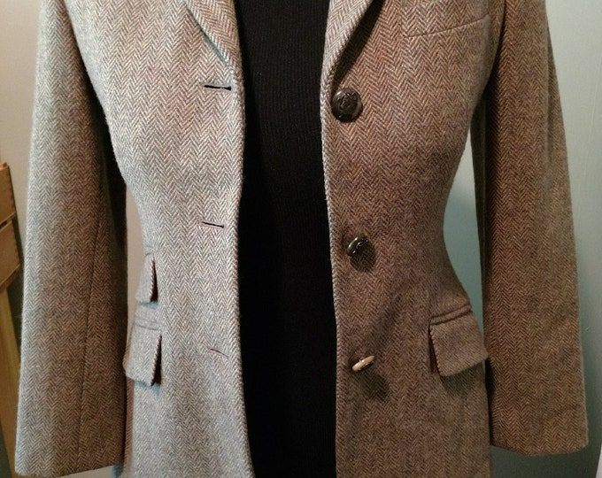 RL Brown Herringbone Cubbing Coat size 6P