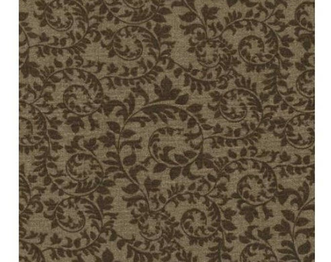 Lovely brown on brown tonal leaf pattern Stock Tie