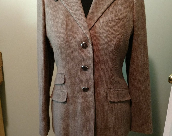 RL Brown Herringbone Cubbing Coat size 12R