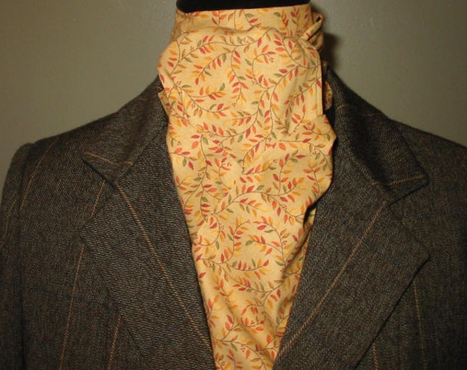 Gold/Rust/Sage Vines Stock Tie