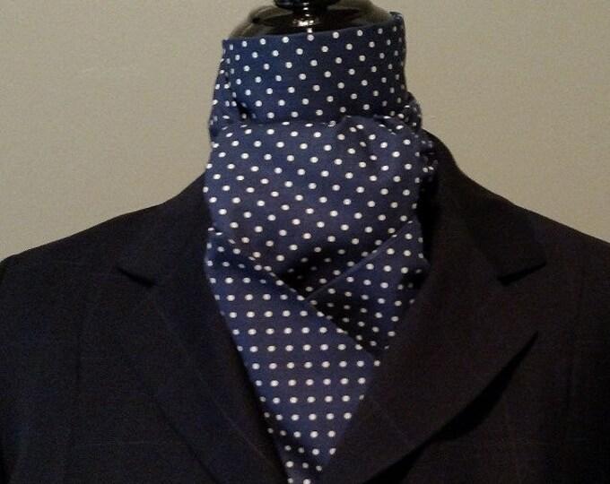 Navy and white Stock Tie
