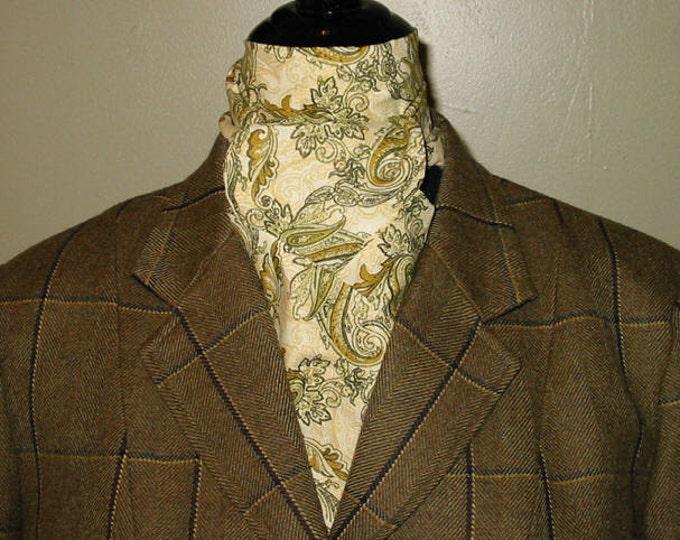 Sage and Cream Paisley Stock Tie